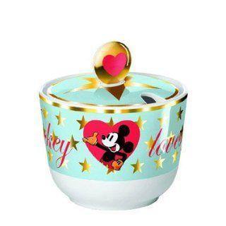 Disney Mickey Mouse   Zuckerdose aus Porzellan Walk of Fame Reihe