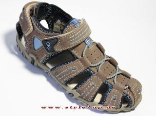 Greenies Leder Kinder Jungen Mädchen Klettschuhe Sandale