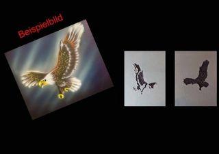Step by Step Airbrush Schablone 437 angreifender Adler