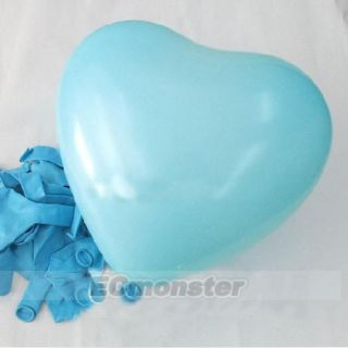 New 50 PCS Heart Shaped Latex Balloons Wedding Party Birthday Decor