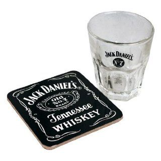 JACK DANIELS SET GLAS & UNTERSETZER   Sonstiges Merchandise