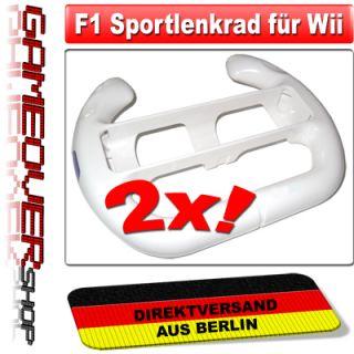 2x LENKRAD Wheel für Nindendo Wii Mario Kart Spiel o.ä. / NEU