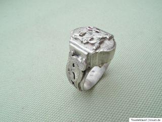 Siegel Wappen Adelshaus,Silber Ring,835 + Zusatz gestempelt,,Top