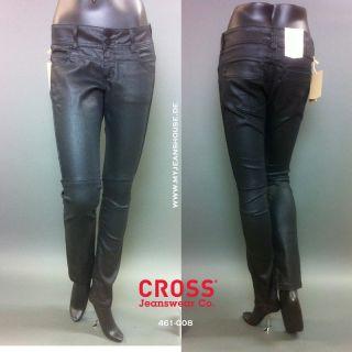 Cross Jeans Monica 458 022 gewachste black Röhre Leder Optik schwarz