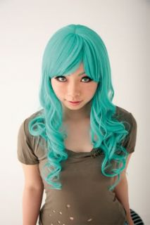 NEW BLEACH Neliel Raionkarurongu Green Emerald Wavy Anime Cosplay Hair