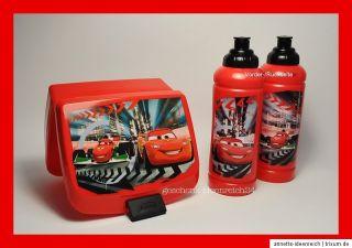 DISNEY PIXAR CARS Trinkflasche Brotdose Vorratsdose Lunchbox Schule