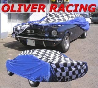 Autogarage Corvette Mustang Viper BMW Zielflagge Car Cover Autoplane