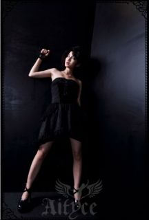 Lolita Kleid Royal schwarz Abendkleid Visual Kei Kostüme