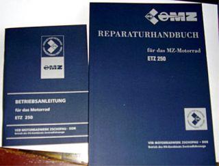 MZ ETZ 250 Reparaturhandbuch & Betriebsanleitung & Plan