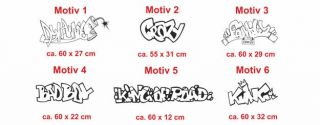 E16 Graffiti Spruch Text Sticker Aufkleber Auto Sprüche