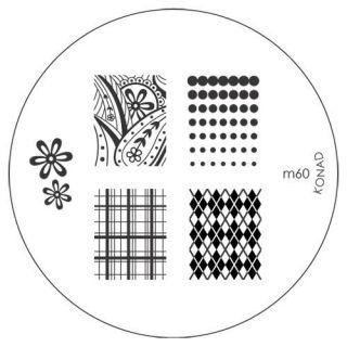Konad Nail Art Image Plate M60