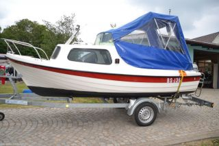 Kajütboot     ATOLL 485 mit HONDA BF 30 A und Boots   Trailer