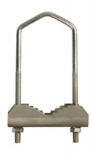 1x Bügelschelle Mast Schelle 60 mm verzinkt kurz 17 cm lang
