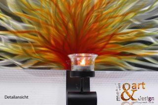 METAL&ART DESIGN WANDKERZENHALTER Kerzenhalter Kerzenständer Braun VK