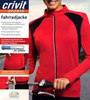 Damen Fahrradjacke Fahrrad Jacke Crivit Gr M 40 42 NEU