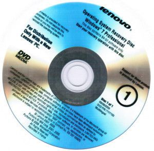 Recovery DVD Set Lenovo ThinkPad T410 T510 W510 Win7 Ultimate 64bit
