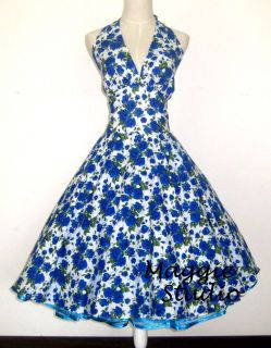 50er Jahre Tanz Kleid zum Petticoat Rockabilly Gr S M L