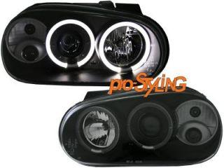 Scheinwerfer VW Golf 4 LED Angel Eyes Xenon Optik schwarz
