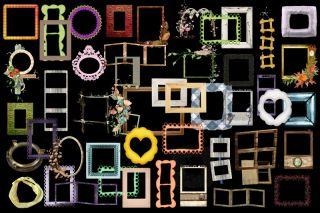 500 Rahmen   Vorlagen   Collagen zum selber basteln