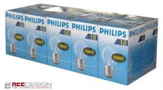 10 x Philips Gluehbirne Gluehlampe Tropfen 15W 15 Watt E27 KLAR