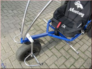 MUSTANG Doppelsitzer Trike LEGAL unter 120 kg, Motorschirm, Edelstahl