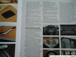 BMW 518 520 525 528i E12 Prospek brochure