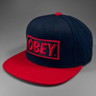 Shepard Fairey OBEY Original Basic Snapback navy red Onesize