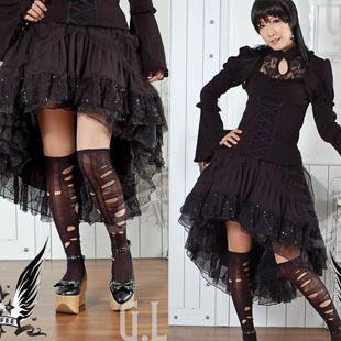 GLP Gothic Lolita Rock Cosplay Schwarz petticoat XS L