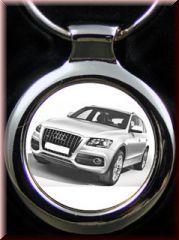 Audi Q5 als Gravur auf Schlüsselanhänger