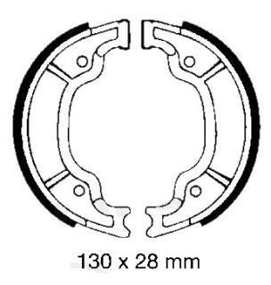 Bremsbacken für Yamaha XC XN XV XVS SR 125 250 HINTEN