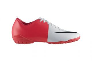 Fußball Schuhe NIKE MERCURIAL VICTORY III weiß rot 509132 *