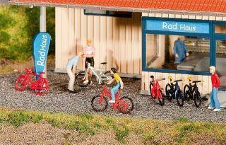 Faller Figuren H0, Mountain Bikes, Miniaturwelten 187, Art. 180445