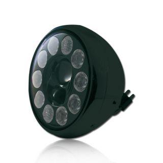Motorrad Scheinwerfer 10 LED s 7 Zoll NEVO schwarz Klarglas Reflektor