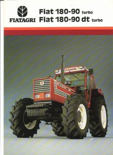 Farm Tractor Brochure   Fiatagri   Fiat   180 90 dt turbo   Larger