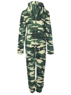 33S Damen Overall Armee Camouflage Tarnfarbe One in All Jumpsuit