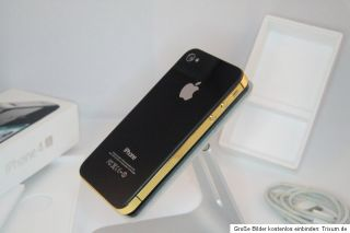 iPhone 4S schwarz GOLD 32GB TOP Zustand (T Mobile) Smartphone