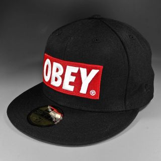 Shepard Fairey OBEY Classic Material New Era 59Fifty black Gr. 7 3/8