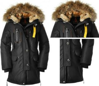 PARAJUMPERS KODIAK PARKA DOWN LONG JACKET BLACK AUTHENTIC WOMENS SIZES