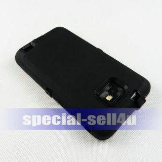 Black Anti Shock Heavy Duty Full Case Housing for Samsung GALAXY S2 S