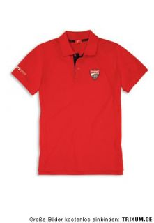 DUCATI CORSE ´12 Corporate kurzarm Polo T Shirt TOTAL RED NEU 2012