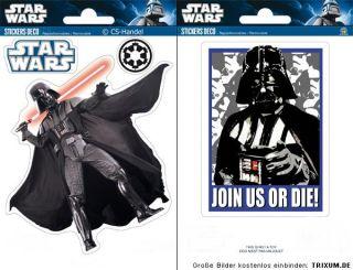 4x Star Wars Clone Darth Vader Wandtattoo Wandsticker