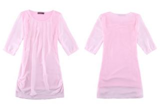 Neu Chiffon Koreaen Blusenkleid Abendkleid Shirt Damen Kleidung Dress