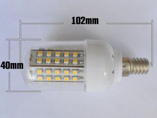 E14 Leucht Lampe 66SMD LED Energiesparlamp Mais Licht Deko lampen Warm