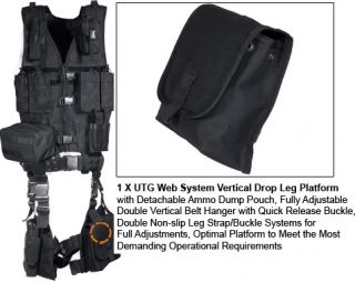 NEW UTG ULTIMATE MODULAR 10 PIECE MOLLE WEB VEST KIT RIFLE MAG POUCH