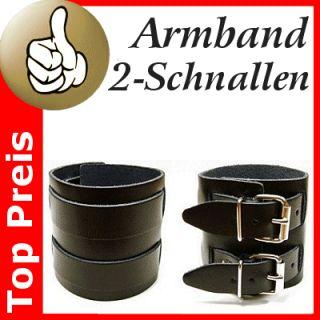 Lederarmband 2 Schnalle Gothic Biker Armband Handfessel