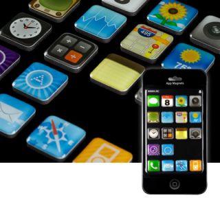 Set of 18 Apple iPhone Novelty Fridge Magnets Genuine Apps Icons New