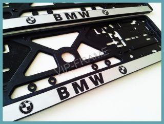 2x BMW KENNZEICHENHALTER NUMMERNSCHILD HALTER / LICENSE PLATE HOLDER