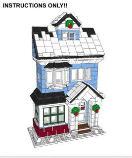 Lego Custom Winter Village   Victorian House Cottage  INSTRUCTIONS