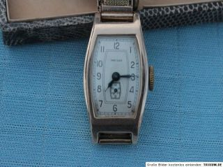 Russische Art Deco Damen Armband Uhr  583 Gold   Rot Gelbgold