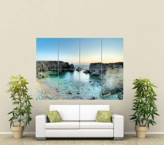 BEAUTIFUL SCENIC ROCKS SEA LANDSCAPE GIANT ART POSTER PICTURE PRINT